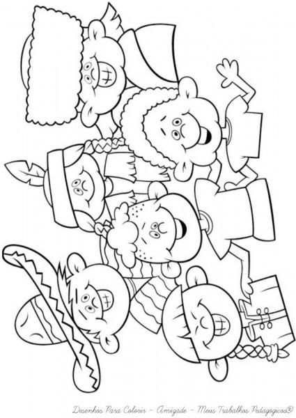 Desenhos De Amizade Para Colorir