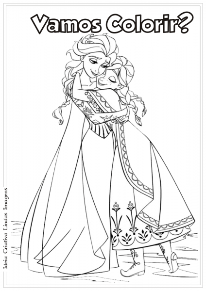 Desenhos Para Colorir Do Frozen Para Imprimir