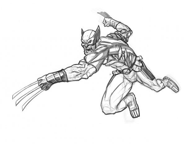 Desenhos Para Colorir Do Wolverine  Desenhoswiki Com