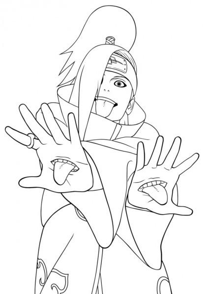 Desenho Para Colorir Do Naruto Shippuden