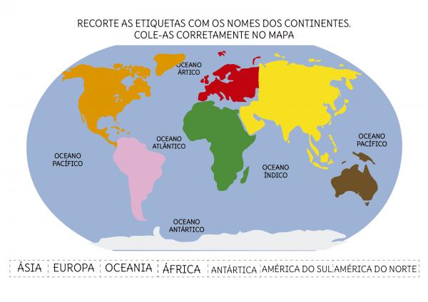 Resultado De Imagem Para Planisferio Continentes E Oceanos