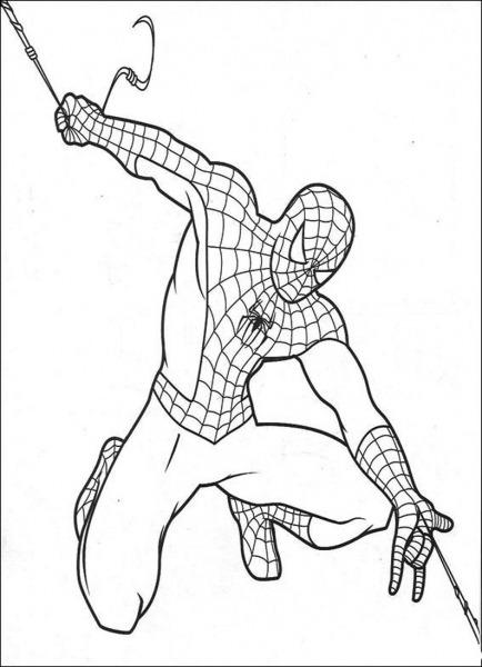 Bonita O Espetacular Homem Aranha Desenho Para Colorir