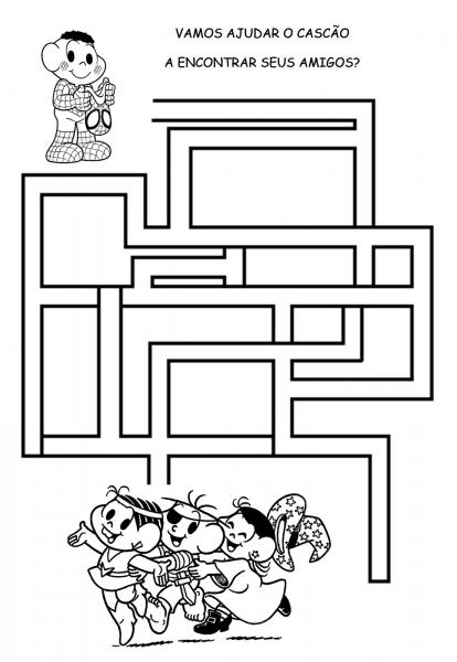 Desenho De Jogo De Labirinto Amizade Para Colorir