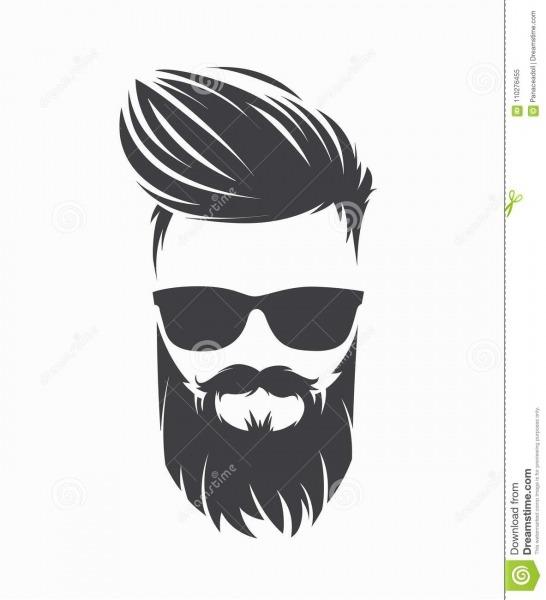 La Coiffure Des Hommes Avec La Moustache De Barbe Illustration
