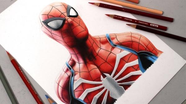 Desenhando O Spider Man (ps4)