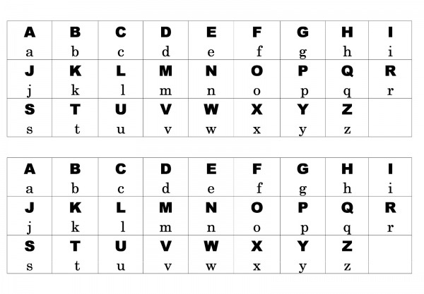 Pedagogas Da Paz  Tabela Alfabeto