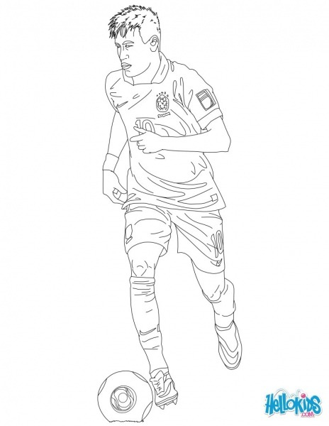Soccer Coloring Pages Neymar  Neymar Barça Coloring Page