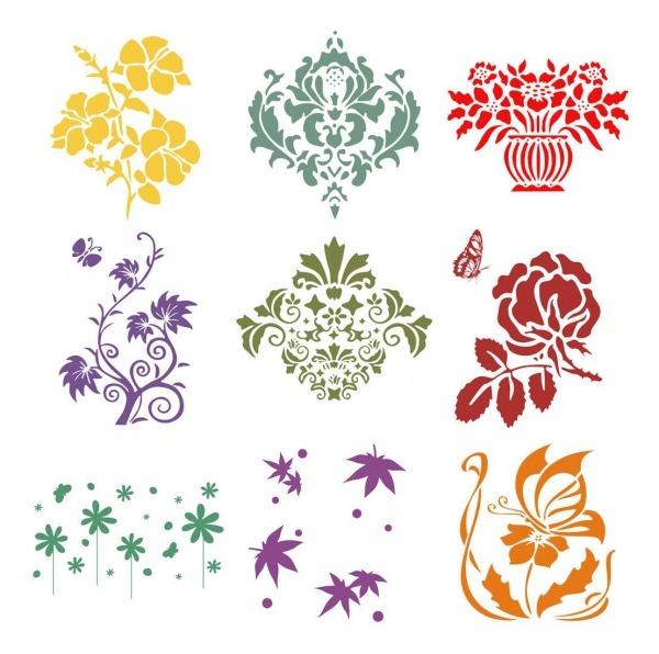 Plantillas De Deseños De Flores Para Pintar En Pared