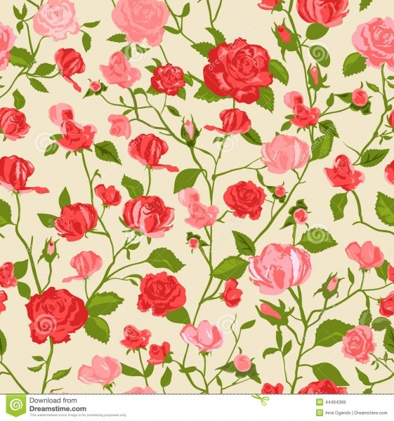 Shabby Chic Rose Background Stock Vector