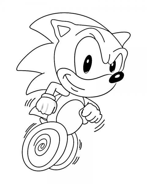 Desenho De Sonic The Hedgehog Para Colorir