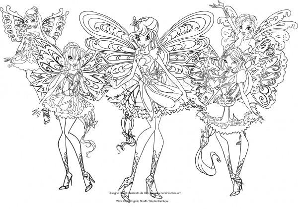 Desenho Dos Winx Club Butterflix Para Colorir
