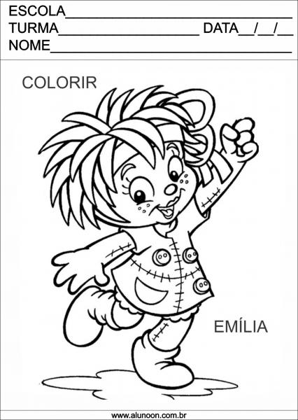 Desenho Da Emília Para Colorir