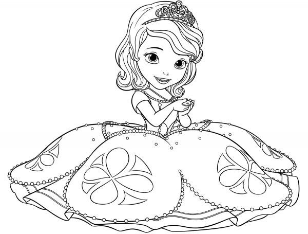 Desenhos De Princesa Sofia Para Colorir E Imprimir