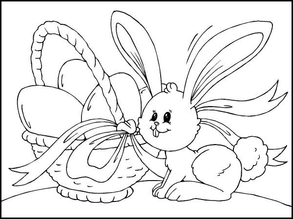 Desenhos De Coelho E Ovos De Páscoa Para Colorir E Imprimir