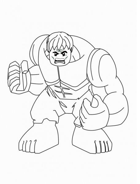 Desenhos De Hulk Lego Irritado Para Colorir E Imprimir