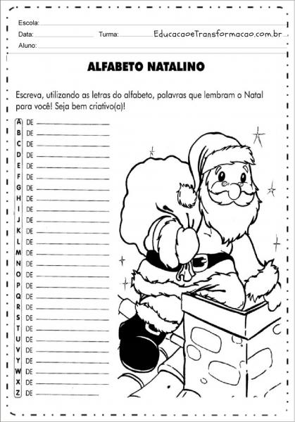 Atividades De Natal Para Imprimir