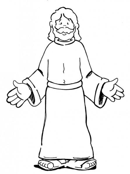 Resultado De Imagem Para Desenho De Jesus Com Braços Abertos