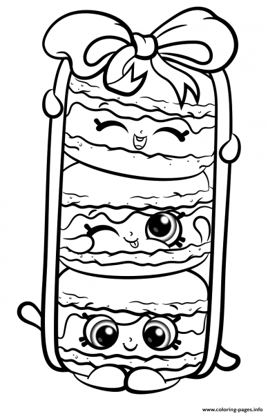 Print Stack Le Macarons From Shopkins Season 8 Coloring Pages
