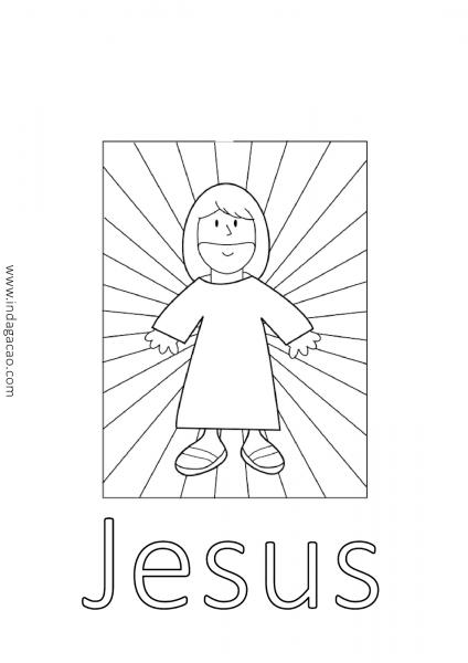 Desenho De Jesus Para Colorir Baixar