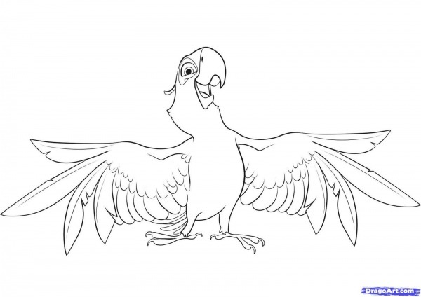 Coloring Page Of A Macaw