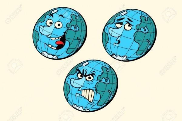 Definir Emoções Personagens Do Planeta Terra  Isolar