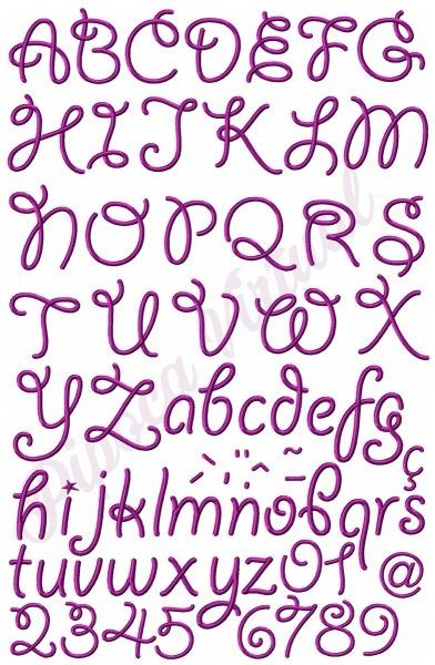 Alfabeto Letra Festa Lindo Completo Matrizes Para Bordado 07 No