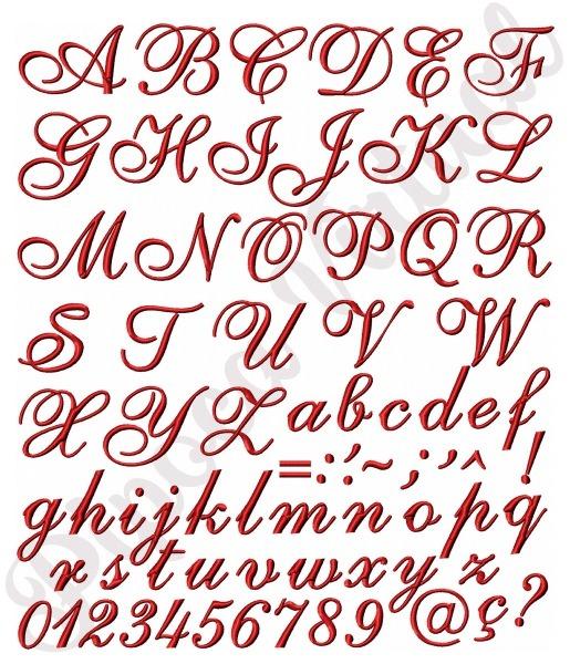 Alfabeto Letras Cursivas Completo Matrizes Para Bordado C17 No