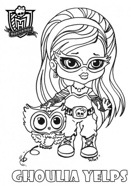 Desenhos Para Colorir Monster High Baby