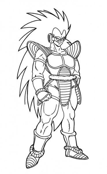 Raditz Dragon Ball Coloring Pages (with Images)