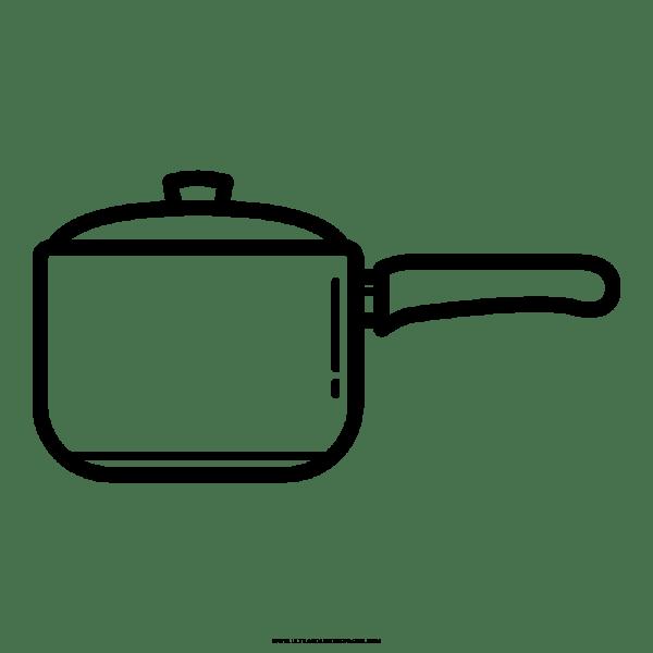 Panela De Cozinhar Desenho Para Colorir