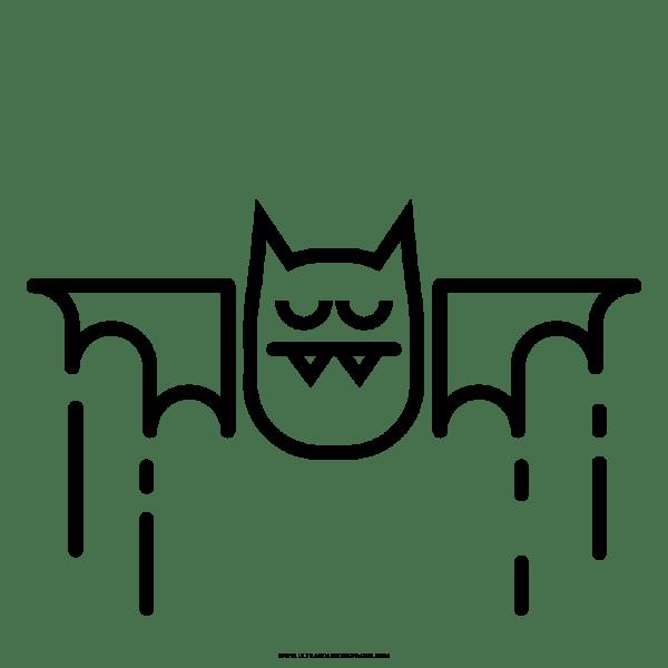 Vampiro Morcego Desenho Para Colorir