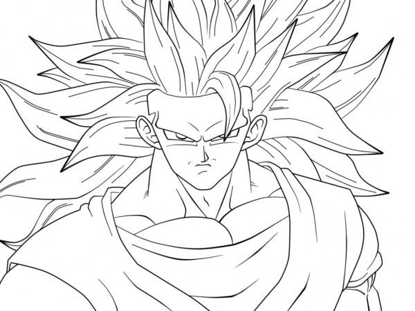 Colorir Goku De Dragon Ball Z