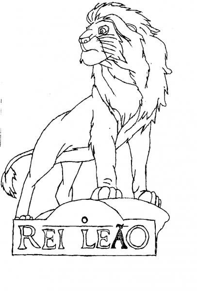 Psicologia Dos Desenhos  Rei Leão Para Colorir