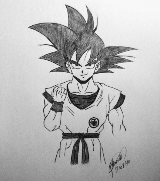 Como Desenhar O Goku De Dragon Ball