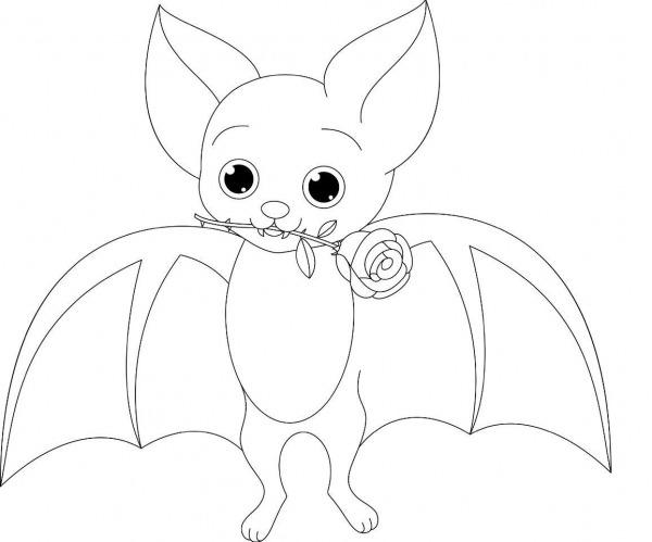 Desenho De Morcego Para Pintar, Colorir