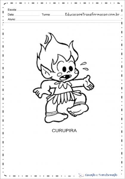Desenhos Do Curupira Para Colorir E Imprimir – Educação E