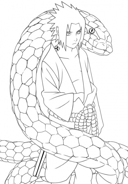 Naruto  153 (cartoons) – Printable Coloring Pages