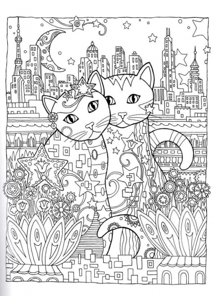 Gatos Para Colorir …