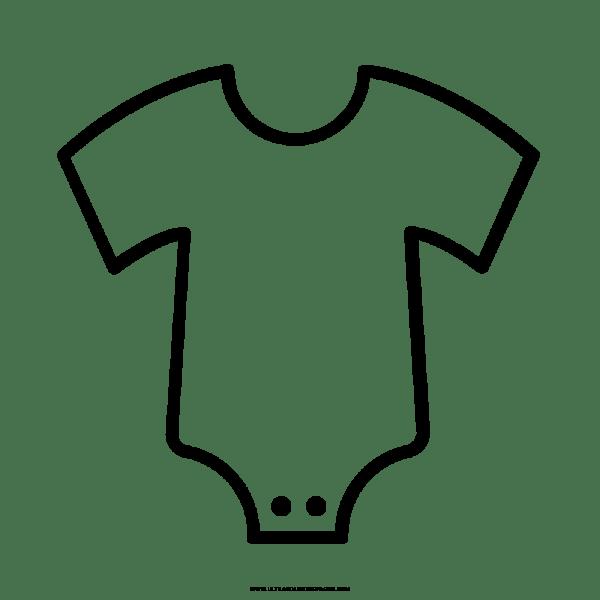 Roupas De Bebê Desenho Para Colorir