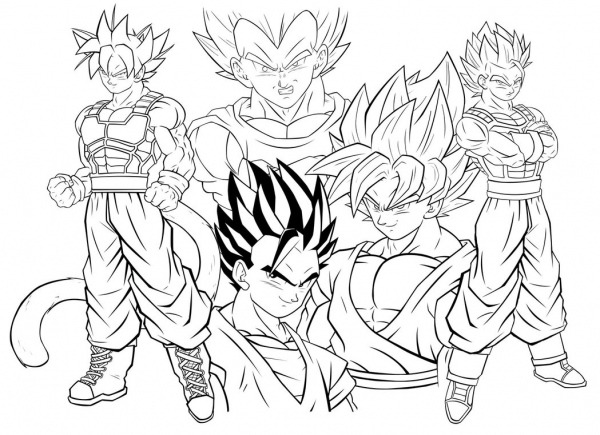 Dragon Ball Z Goku Super Saiyan 1000 Coloring Pages