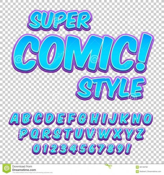 Grupo Cômico Do Alfabeto Letras, Números E Figuras Para