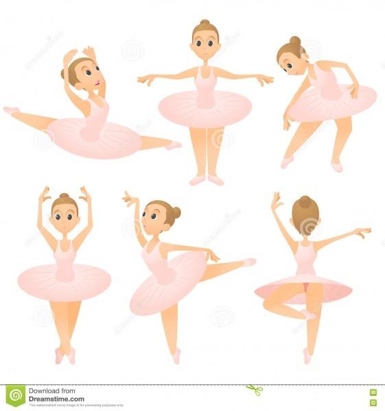 Grupo Do Conceito Da Menina Da Bailarina, Estilo Dos Desenhos