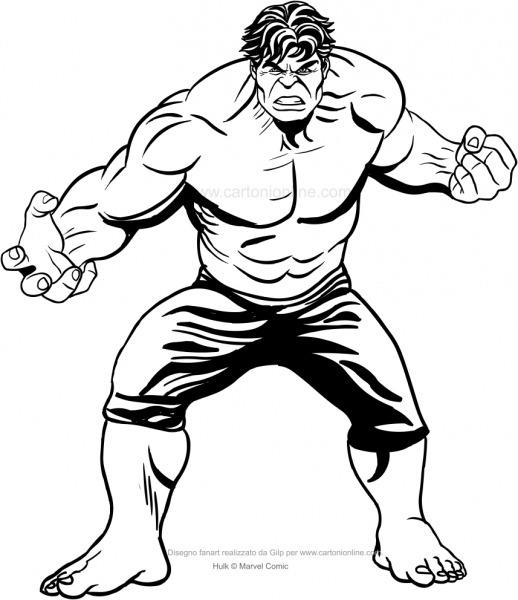 Desenho 6 De Hulk Para Colorir
