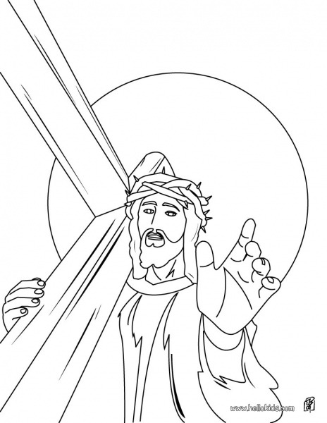Jesus Christ's Crown Of Thorns Coloring Pages