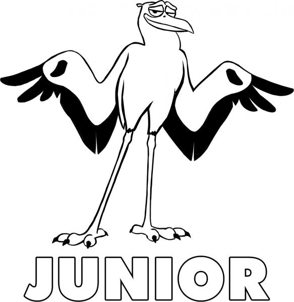 Junior, De Cegonhas, Para Colorir — Colorir Org