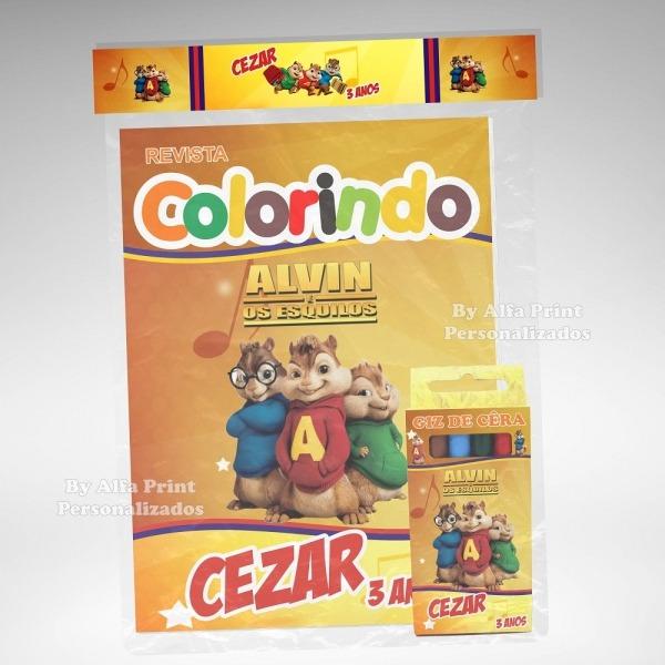 Kit Colorir Alvin E Os Esquilos + Brindes No Elo7