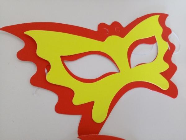 Máscara De Carnaval Infantil Borboleta No Elo7