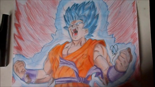 Desenhando  Goku Ssj Blue