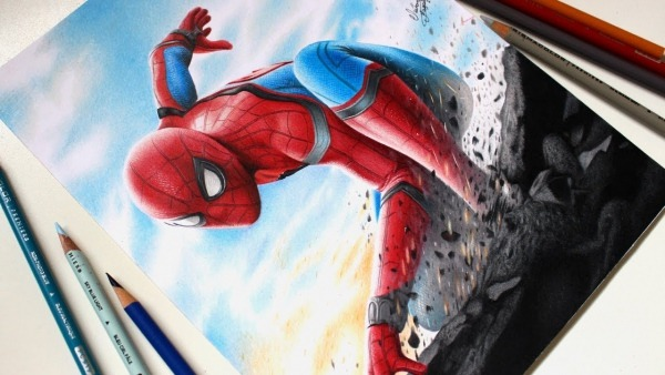 Drawing Spider Man