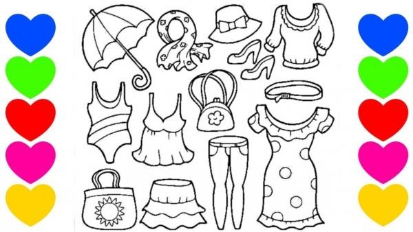 Desenho De Pintar Vestidos
